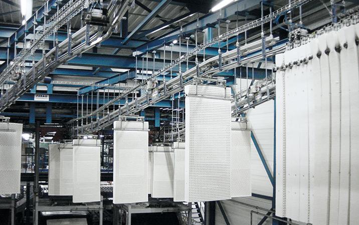 Produktionslinie und JIT-Speicher für Matratzen