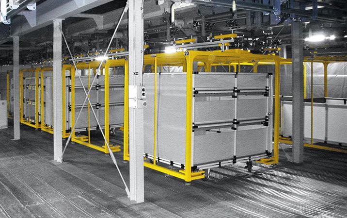 Transportsystem für Motorteile