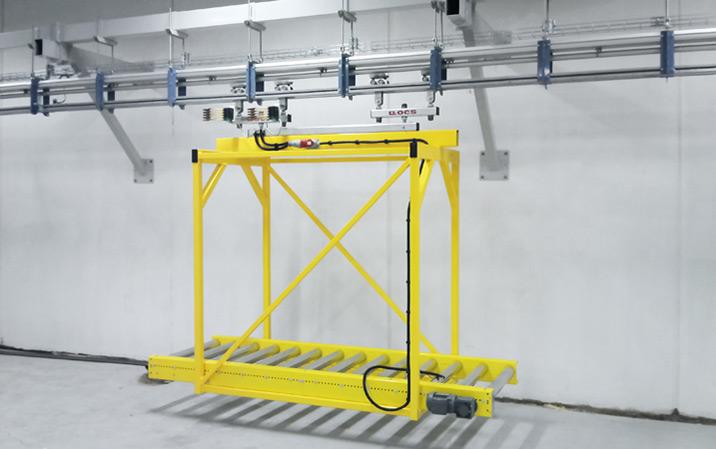 Automatisches Transportsystem für Treppenbauteile